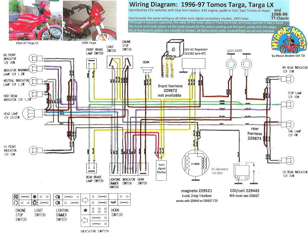 [SCHEMATICS_48ZD]  Tomos Wiring Diagrams « Myrons Mopeds | Whizzer Wiring Diagram |  | Myrons Mopeds