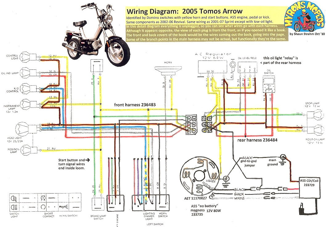 [FPWZ_2684]  Tomos Wiring Diagrams « Myrons Mopeds | Lazer 5 Wiring Diagram |  | Myrons Mopeds