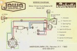 Jawa Babetta 1976-77 US model 207-011 4-wire star magneto with internal rotor Tranzimo CDI/coil