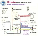 Rizzato Califfo Wiring CEV 3-wire magneto external ignition ground