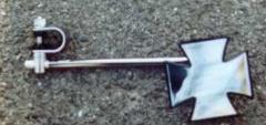 3. Maltese Cross chrome clamp-on 10 inch