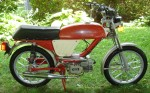 "1978 Negrini MX Sport top-tank tube frame Grimeca Razze Incrociate aluminum wheels Morini MO1 engine ""late"" iron cylinder with aluminum fins"