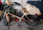 "1979 Roadmaster XL Model 125 wheat with gold fenders gold ""bullet"" headlight Stewart-Warner speedo"