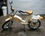 1980 Roadmaster XL Model 125 ? (25mph) white/wheat/gold fenders 0.83 gal tank, no speedo gold Peterson headlight normal rear lift lever