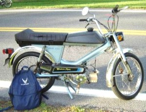1981 Colombia Western Flyer tube frame, Sachs 505 engine