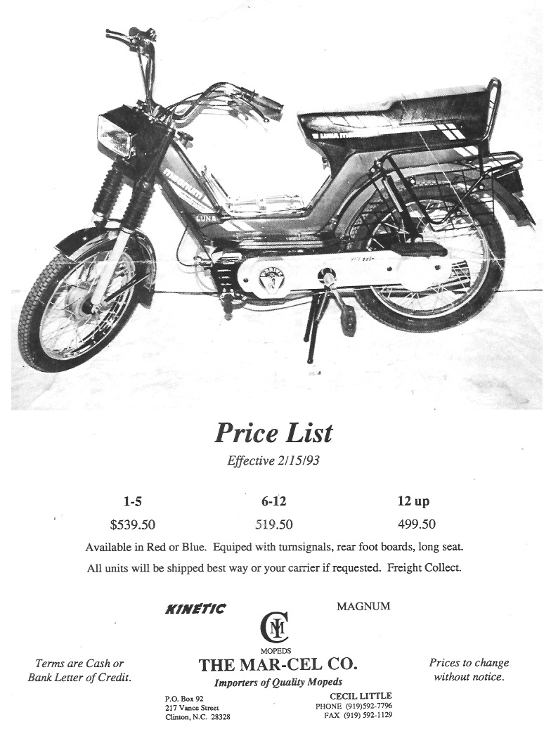 Kinetic Parts Myrons Mopeds