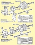 AMF 110 to 130 wheel parts