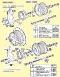 AMF 140 wheel parts