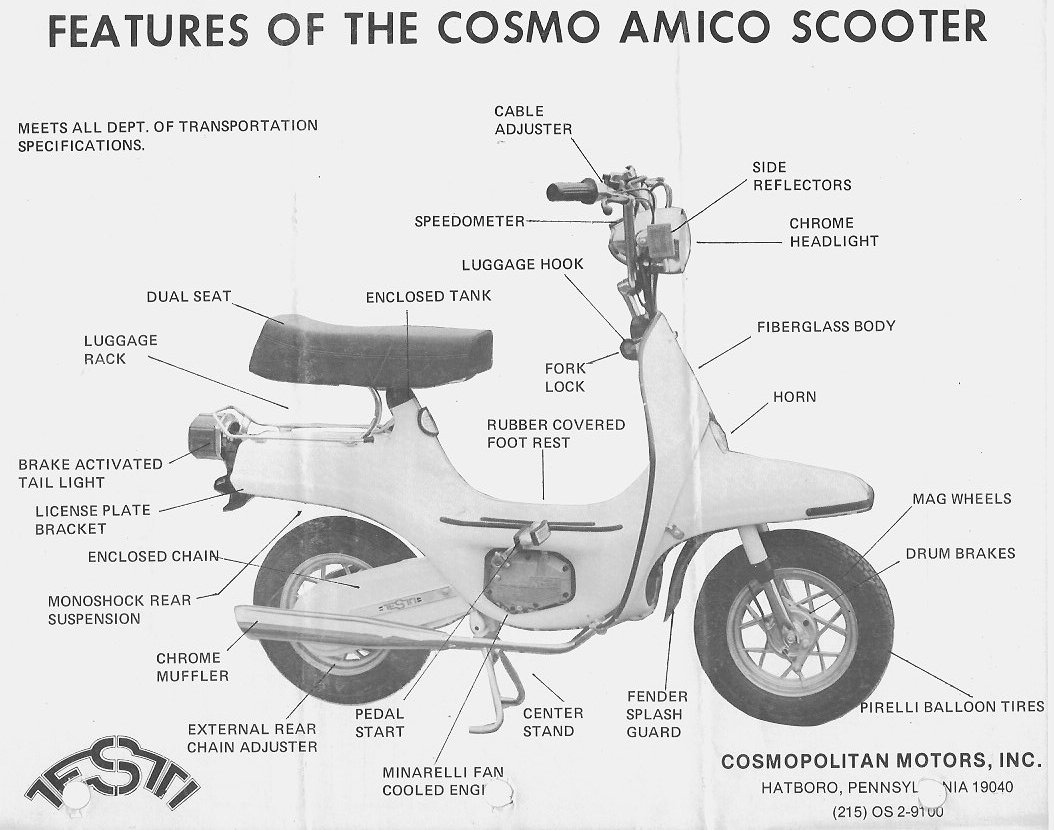 Cosmo Parts  U00ab Myrons Mopeds
