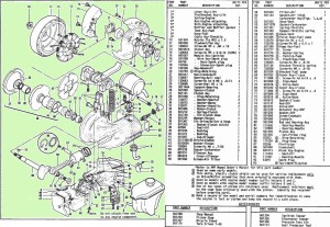 McCulloch BHE800 engine parts p3-4