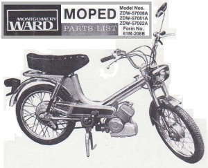 Montgomery Ward Moped tube frame Solo engine