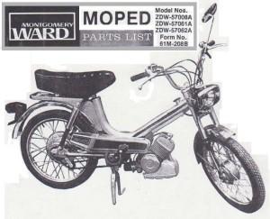 Montgomery Ward Moped tube frame Solo engine
