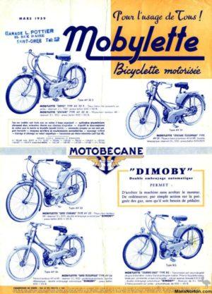 1959 Motobecane brochure