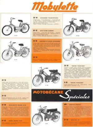 1970 Motobecane Mobylette brochure