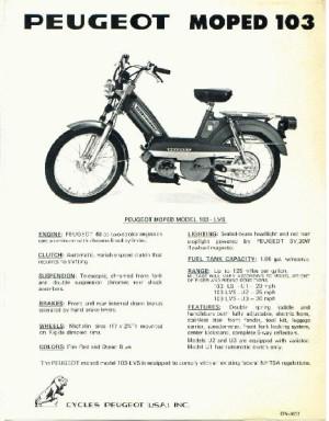1977 Peugeot 103 Ad