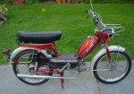 1977 red Flying Dutchman KML 40 with early style engine shroud
