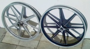 Sport Mag II wheels for Indian mopeds left side view