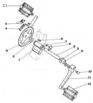 Solex Parts Figure 11 Pedal Assembly