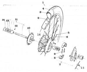 Solex Parts 15 Rear Wheel