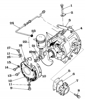 Solex Parts Figure 3 Crankcase Assembly