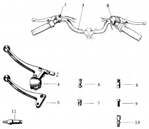 Solex Parts Figure 9a Left Handlebar Controls