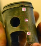 17mm upper (12 pin) Derbi Variant pre-'87