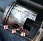 20mm upper, 12mm pin, Vespa