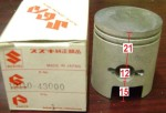 21mm upper, 12 pin, Suzuki FA50
