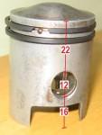 22mm upper, 12 pin, Minarelli V1
