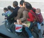 9 People on 1 Motorcycle