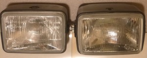 1989-2013 Tomos head lamps, L CEV, R Saturnus