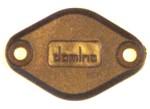 Domino Diamond block off plate black plastic