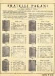 Fratelli Pagani (CEV) 1930 catalog page of pocket flashlights