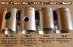 16mm pin-edge to crown-edge, 12 pin, Morini S5 series (1970's -2002)