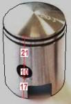 21mm upper, 10 pin, Vespa Euro models