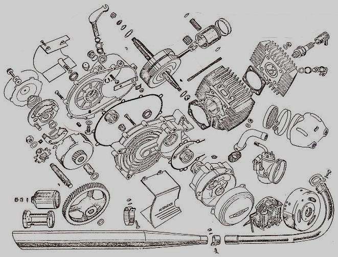 Casal M140 Engine exploded view
