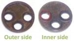 OMG seal disk 13.9 x 1.6 3 rings stick up from holes they fit inside valve holes