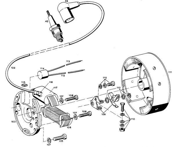 1972 Anker Laura M48 magneto
