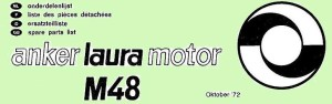 1972 Anker Laura M48 parts list header