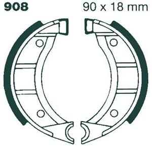 EBC 614 BRAKE SHOES FOR 1981 SUZUKI FS50
