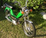 late 1978 Indian AMI50 green with spoke wheels color stripes removed