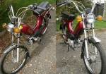 1979 Indian AMI50 burgundy w/spoke wheels Indian gold script on tank
