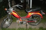 1979 Indian AMI50 burgundy w/spoke wheels warm color stripes