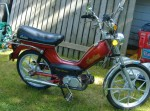 1980 Indian AMI50 burgundy w/gold script Mira snowflake wheels