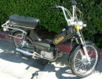 1980 Indian AMI-50 black with spoke wheels gold script on tank + sides