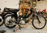 1981 Indian AMI50 black with head logo Mira snowflake wheels