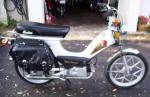 1981 Indian AMI50 white with head logo Mira snowflake wheels