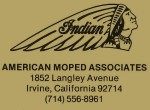 American Moped Associates designed the Indian moped and got Merida Industry in Taiwan to produce it.