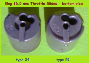 Bing 16.5mm throttle slides