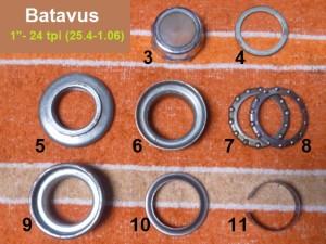 "Batavus headset, 1""-24 thread, 30.0 cups"